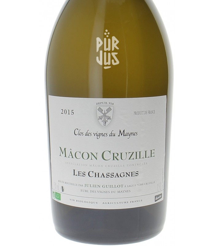 Mâcon Cruzille Cuvée Les Chassagnes - 2015 - Clos des Vignes du Maynes - Julien Guillot - Magnum